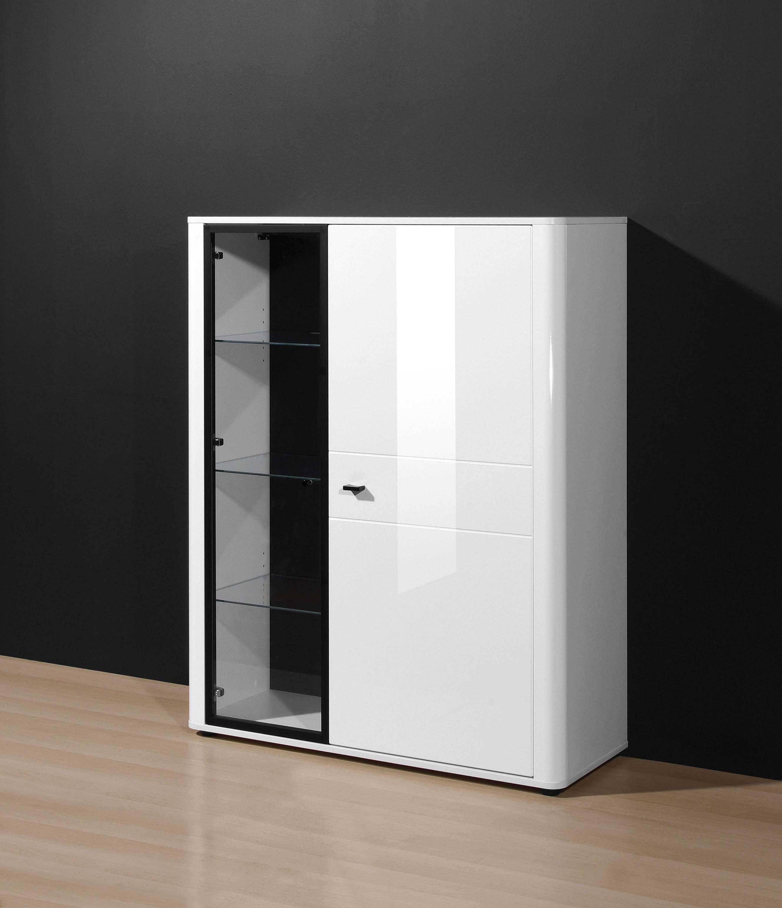 stand h ngevitrine mod v750 weiss hochglanz h c m bel. Black Bedroom Furniture Sets. Home Design Ideas