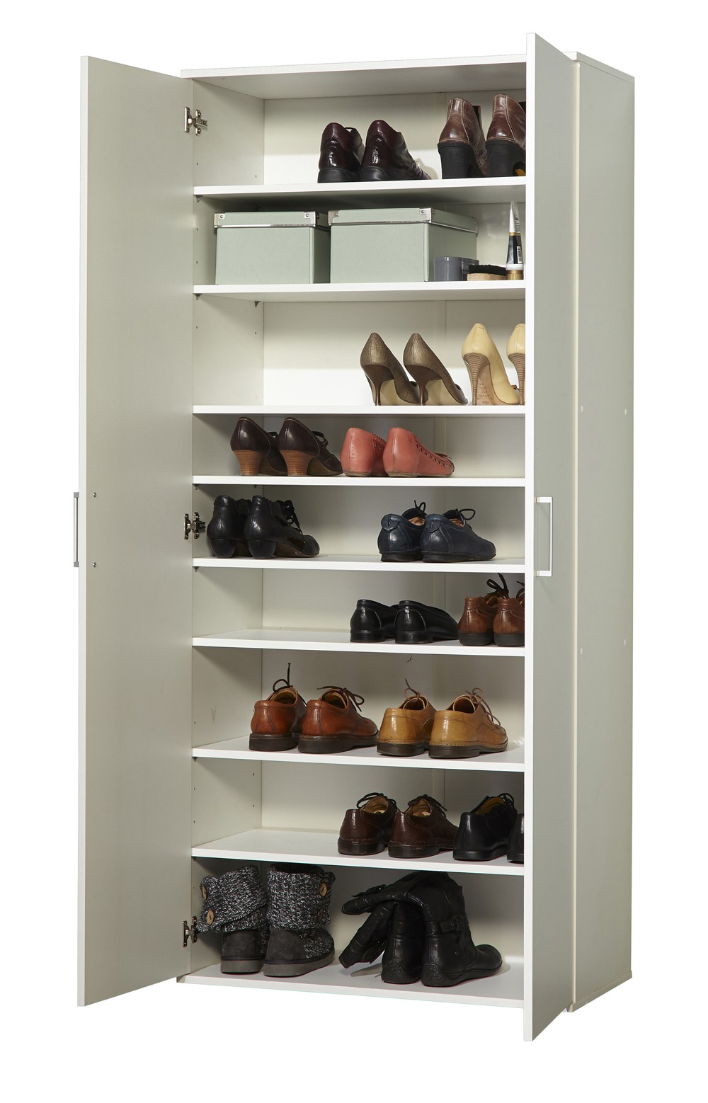 schuhschrank 2 t rig mod w024 weiss h c m bel. Black Bedroom Furniture Sets. Home Design Ideas