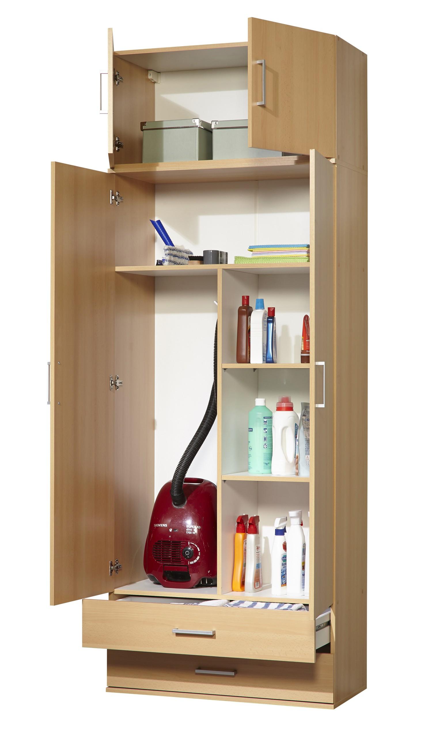 Staubsaugerschrank - Mehrzweckschrank Mod.W029 Buche - H&C Möbel