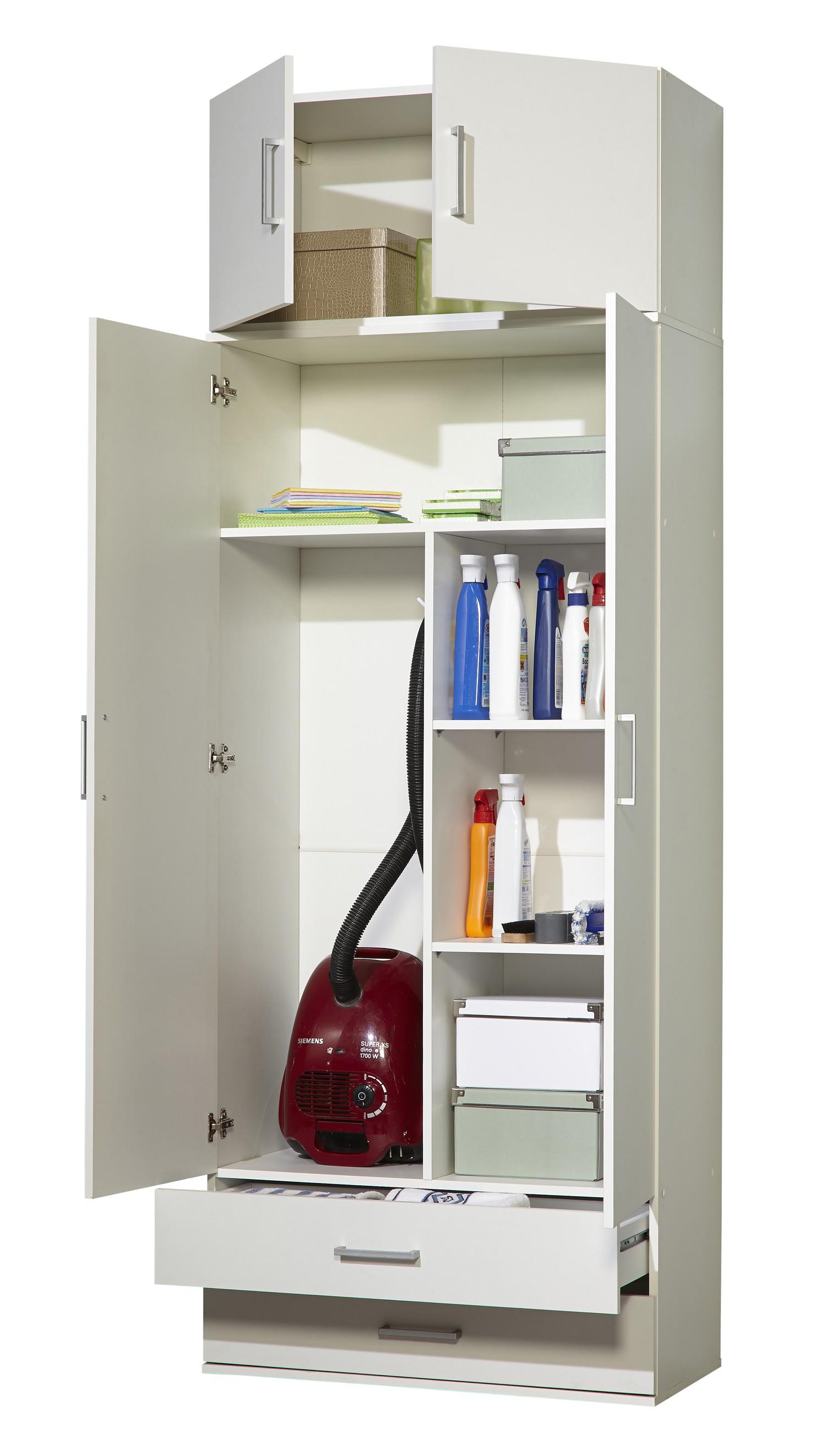 Staubsaugerschrank - Mehrzweckschrank Mod.W030 Weiss - H&C Möbel