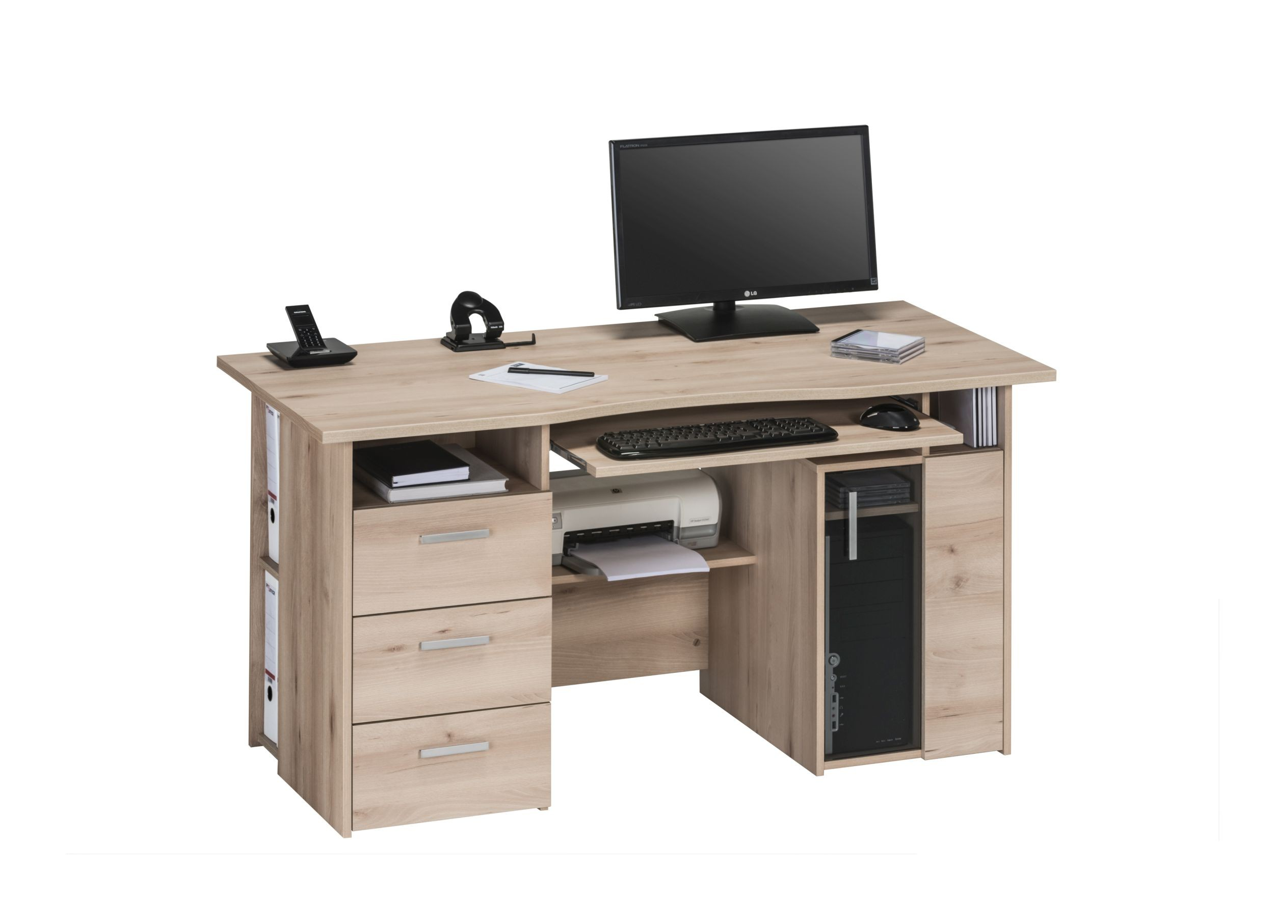 schreibtisch mod mj072 edelbuche h c m bel. Black Bedroom Furniture Sets. Home Design Ideas