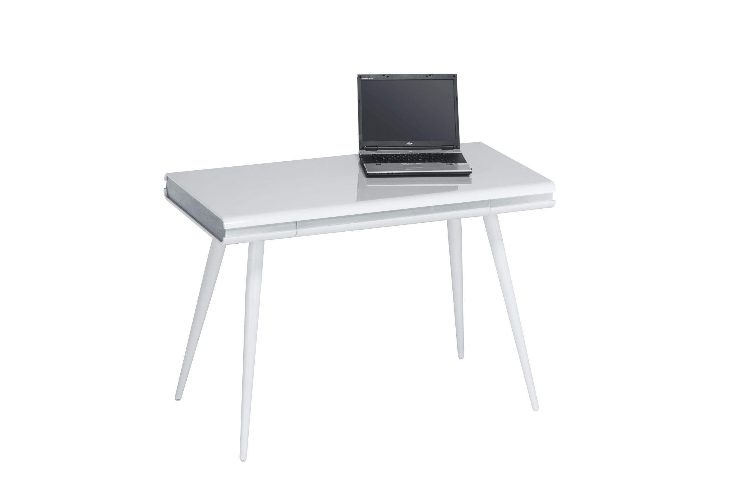 Design Schreibtisch Weiß Hochglanz T192