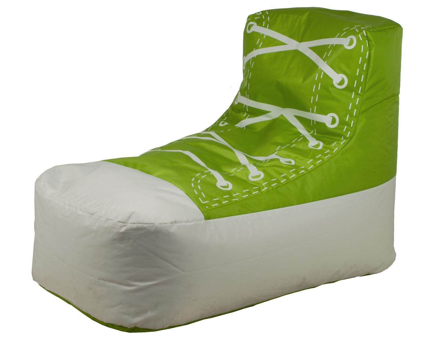 Sitzsack mod sneaker weiss gr n h c m bel - Arbeitszimmer grun ...