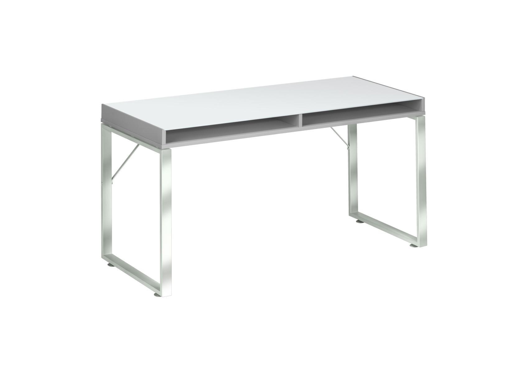 Schreibtisch Computertisch Modmj175 Metall Chrom Platingrau