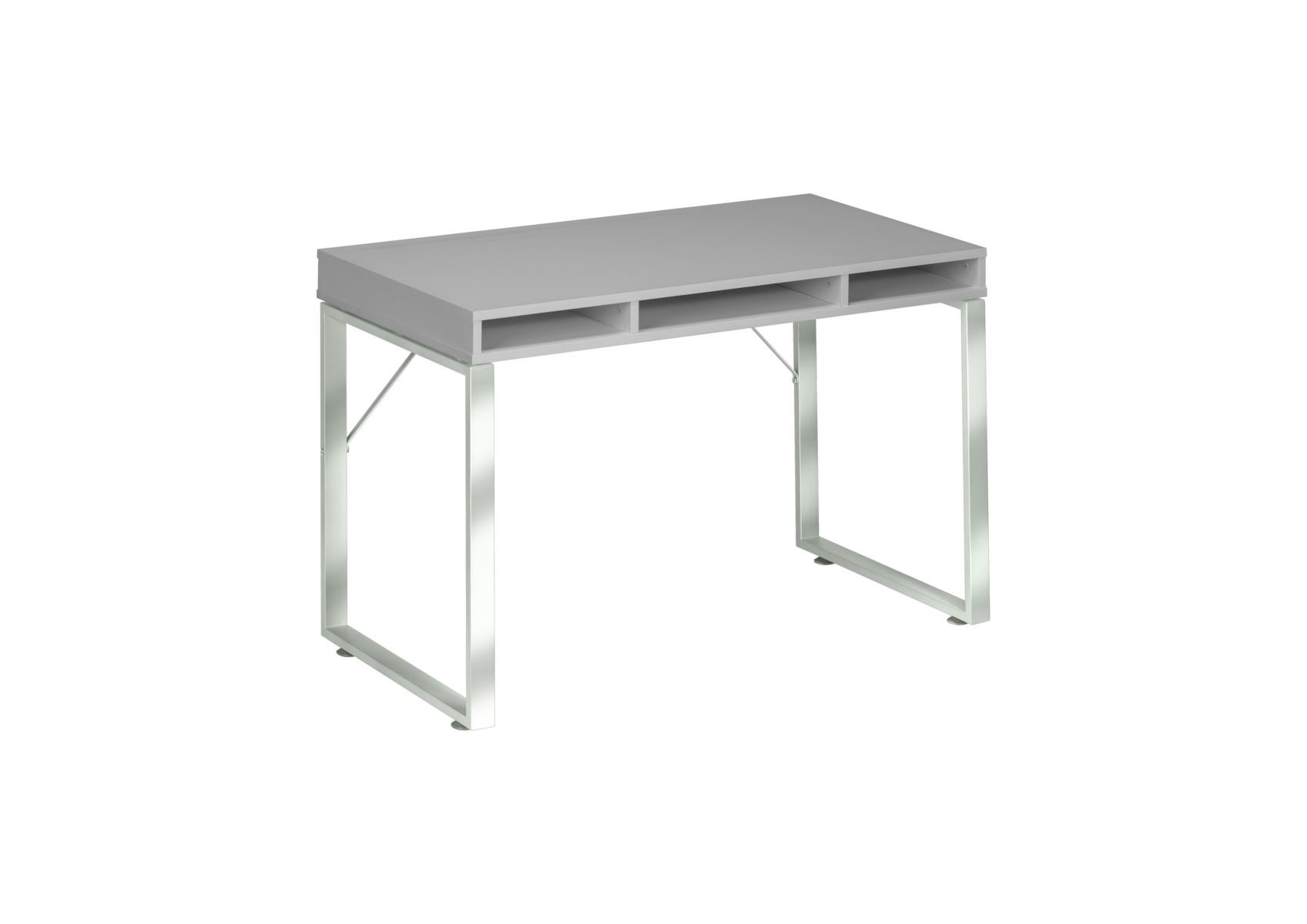 Schreibtisch Computertisch Modmj188 Metall Chrom Platingrau