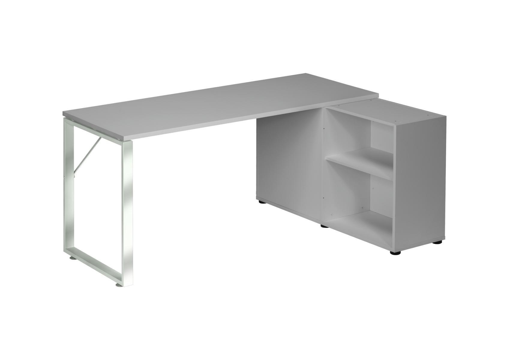 Schreibtisch Computertisch Modmj236 Metall Chrom Platingrau