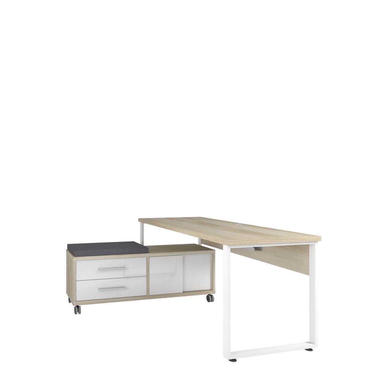 Künstlerisch Schreibtisch Mit Rollcontainer Referenz Von 16735524 + 16742446.jpg