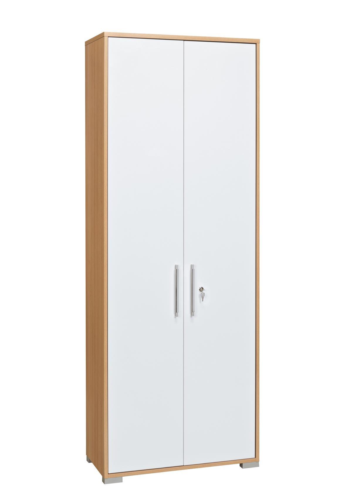 Aktenschrank Mod.MJ416 Buche - Weiß Hochglanz - H&C Möbel