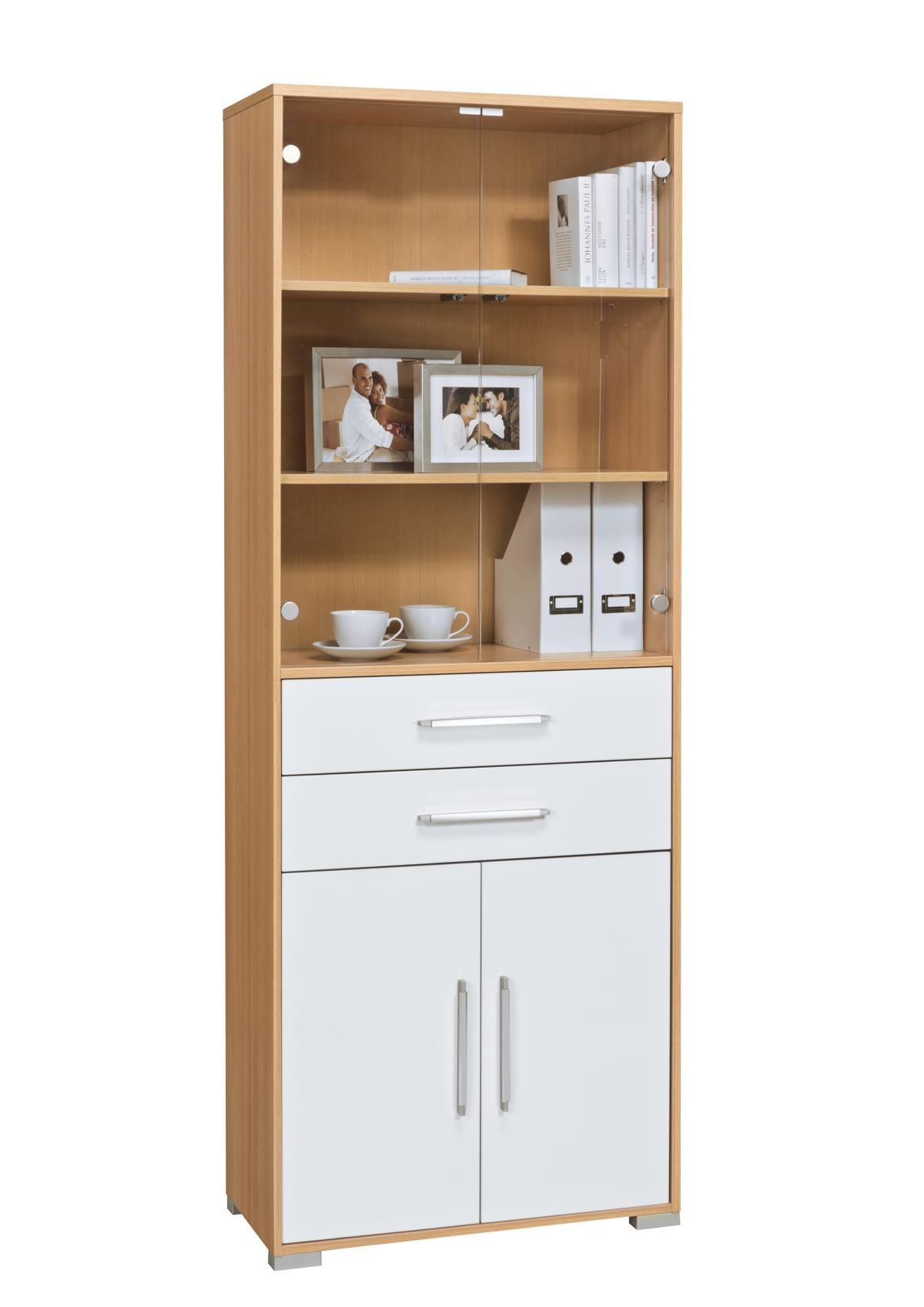schrank mod mj429 buche wei hochglanz h c m bel. Black Bedroom Furniture Sets. Home Design Ideas