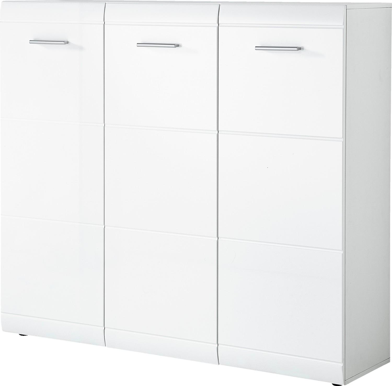 Schuhschrank Mod.GM913 Weiß Hochglanz - H&C Möbel