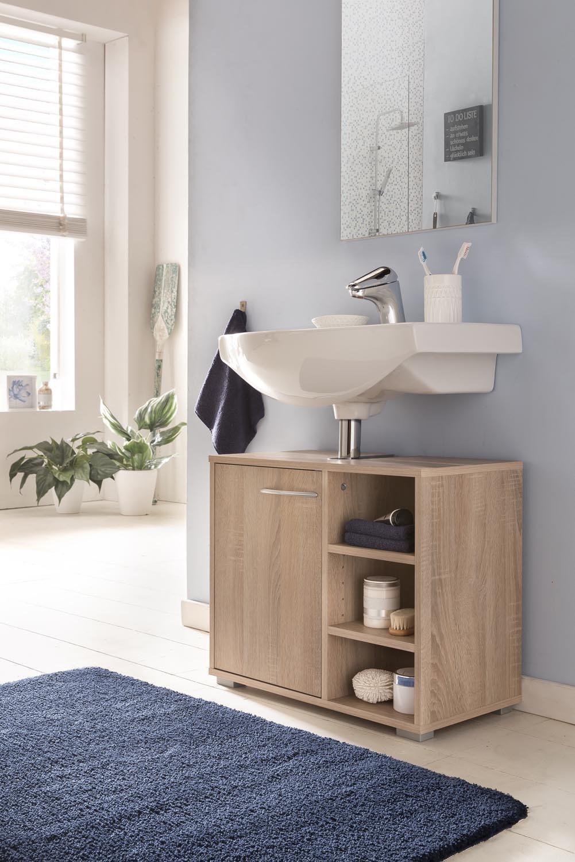 Waschtischunterschrank Mod.W141 Sonoma-Eiche - H&C Möbel