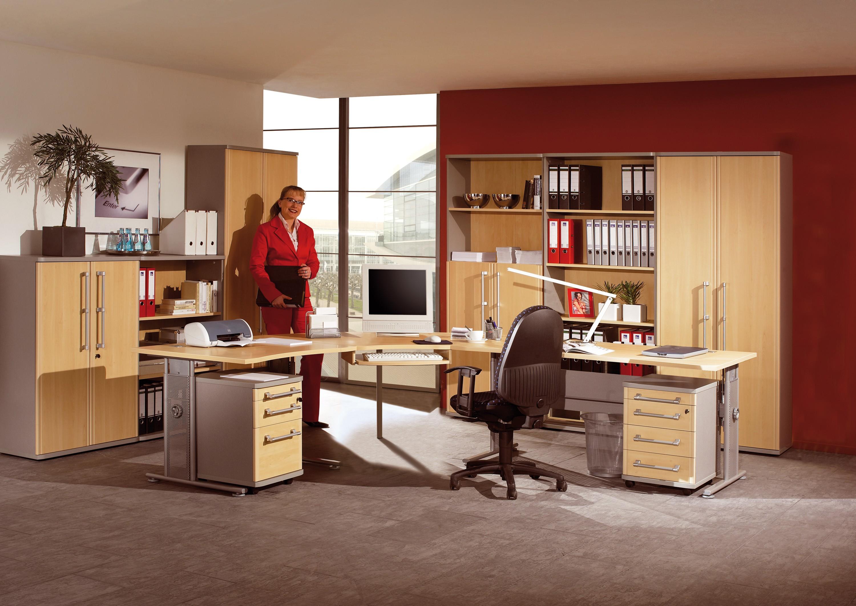 b ro arbeitszimmer 11 teilig mod gm193 ahorn silber h c m bel. Black Bedroom Furniture Sets. Home Design Ideas