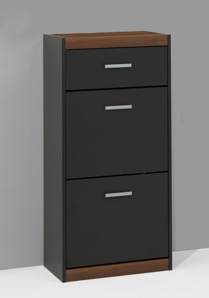 schuhschrank mod s529 nussbaum anthrazit h c m bel. Black Bedroom Furniture Sets. Home Design Ideas