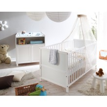 Babyzimmer 2-teilig Mod.836366 Kiefer Weiss