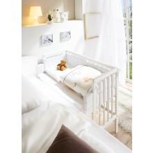 Baby Anstellbett Mod.877437 Kiefer Weiss