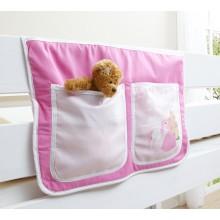 Bett-Tasche für Hoch- und Etagenbetten Mod.871138 Rosa - Prinzessin-Motiv