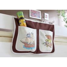 Bett-Tasche für Hoch- und Etagenbetten Mod.809537 Braun - Beige - Piraten-Motiv