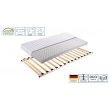 Set Lattenrahmen + Matratze Ti-Flex Classic Comfort Mod.888716 Birke Braun - Weiss