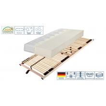 Set Lattenrahmen + Matratze Ti-Flex Luxus Klimaflex Mod.888501 Birke Braun - Weiss