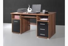 Schreibtisch Mod.GM105 Walnuss - Schwarz