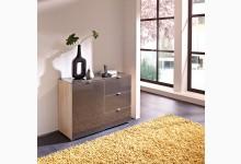 Kommode - Flurkommode Sonoma Eiche - Braun Glasfront K670