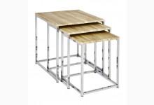 3-Satz-Tisch / Beistelltische Mod. 33083 Eiche hell