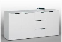 Sideboard Mod.MJ108_3 Icy Weiß Hochglanz