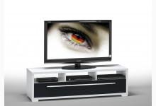 TV Ablage Lowboard Mod.MJ118 Weiß Schwarz