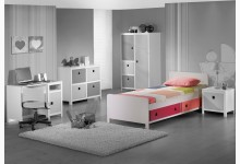 Einzelbett Mod.800596 Rosa