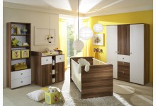 Babyzimmer 4-teilig Mod.804563 Walnuss Weiss