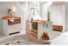 Babyzimmer Mod.829689 Kiefer Weiss / Braun