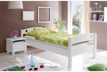 Einzelbett 90x200 Mod.855909 Kiefer Weiss