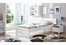 Einzelbett 90x200 Mod.857521 Kiefer Weiss