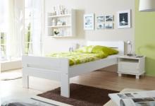 Einzelbett 90x200 Mod.857644 Kiefer Weiss