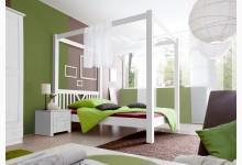 Himmelbett Mod.871077 Kiefer Weiss