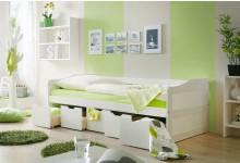 Sofabett mit 5 Schubkästen Mod.877277 Kiefer Weiss