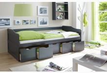 Sofabett mit 5 Schubkästen Mod.877291 Kiefer Anthrazit