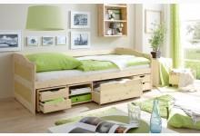 Sofabett mit 4 Schubkästen Mod.877413 Kiefer Natur