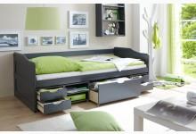 Sofabett mit 4 Schubkästen Mod.877420 Kiefer Anthrazit