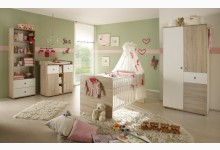 Babyzimmer 4-teilig Mod.877697 Sonoma Eiche - Weiss