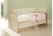Babybett Mod.877703 Sonoma Eiche - Weiss