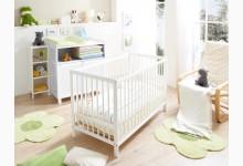 Babybett / Gitterbett Mod.877826 Kiefer Weiss