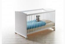 Babybett / Gitterbett Mod.886903 Kiefer Weiss