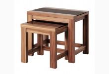 2-Satz-Tisch Mod.T141 Nussbaum Schwarz