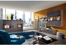 10tlg. Wohnzimmerset Mod.GM488 Eiche - Graphit Hochglanz
