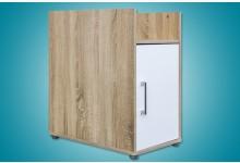 Standcontainer Mod.SO156_SE Sonoma Eiche Weiß
