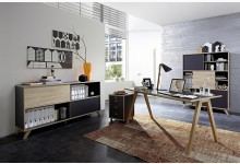 4tlg. Arbeits- & Bürozimmer - Anthrazit Sonoma-Eiche GM1236