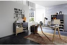 4tlg. Arbeits- & Bürozimmer - Anthrazit Sonoma-Eiche GM1237