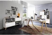 4tlg. Arbeits- & Bürozimmer - Pinie-Weiß Navarra-Eiche GM1243