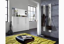 4tlg. Garderobenprogramm / Garderobenset - Weiß Hochglanz GM1249